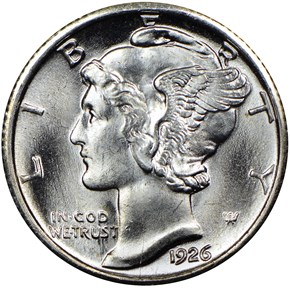 1926 10C MS obverse