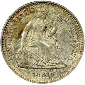 1861 H10C MS obverse