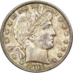 1906 S 50C MS obverse