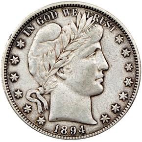 1894 O 50C MS obverse