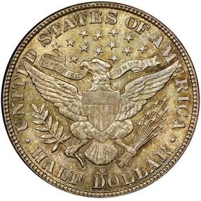 1903 O 50C MS reverse