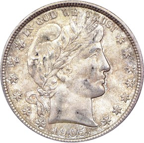 1905 O 50C MS obverse