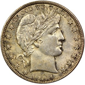 1906 D 50C MS obverse
