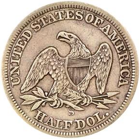 1864 S 50C MS reverse