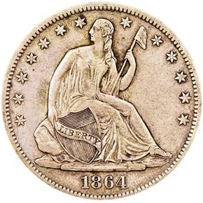 1864 S 50C MS obverse