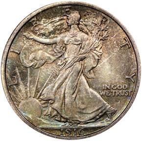 1916 D 50C MS obverse