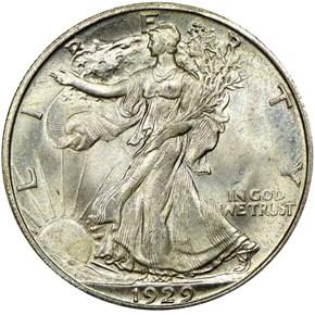 1929 S 50C MS obverse
