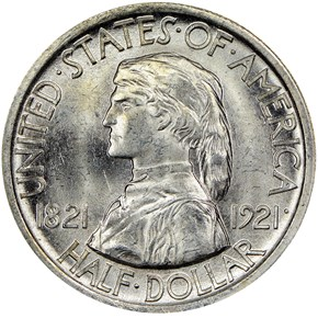 1921 MISSOURI 50C MS obverse