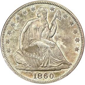 1860 50C MS obverse