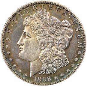 1888 S$1 PF obverse