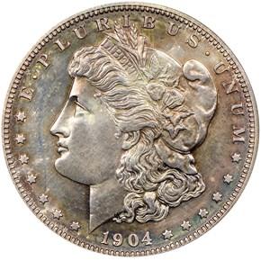 1904 $1 PF obverse