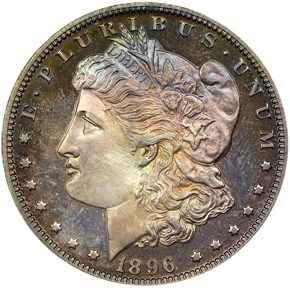 1896 S$1 PF obverse