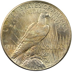 1928 S$1 MS reverse