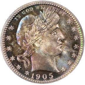 1905 25C PF obverse