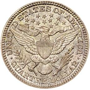 1916 D 25C MS reverse