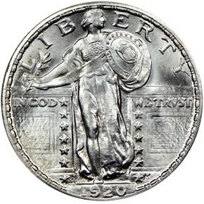 1920 D 25C MS obverse