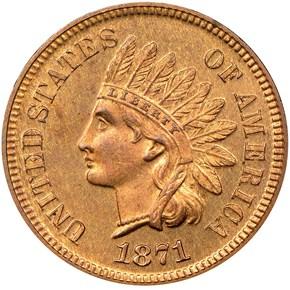 1871 1C PF obverse