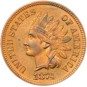 1874 1C PF obverse