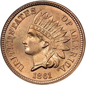 1861 1C MS obverse
