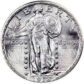 1918 25C MS obverse
