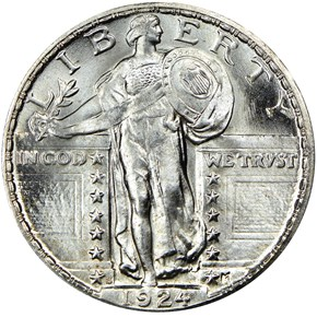 1924 S 25C MS obverse