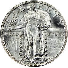 1928 D 25C MS obverse