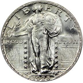 1928 S 25C MS obverse