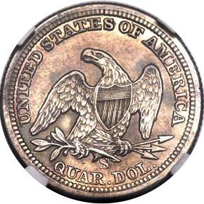 1861 S 25C MS reverse