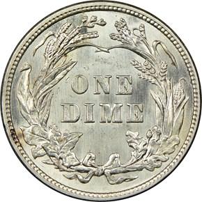 1914 10C MS reverse