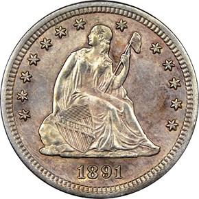 1891 S 25C MS obverse