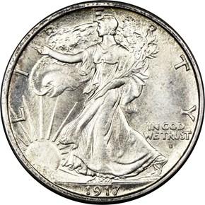 1917 S OBVERSE 50C MS obverse