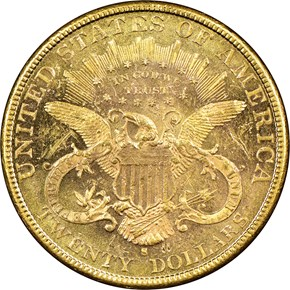 1885 S $20 MS reverse