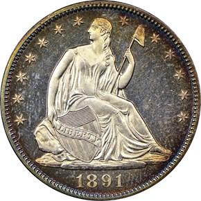 1891 50C PF obverse