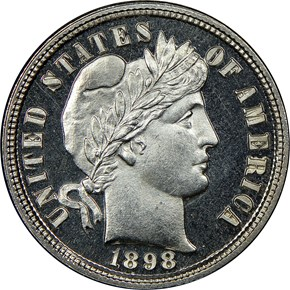 1898 10C PF obverse