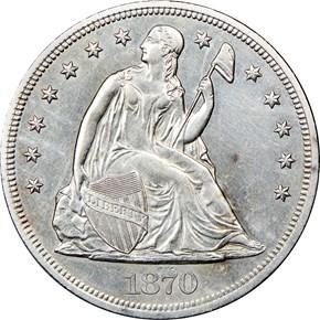 1870 CC $1 MS obverse