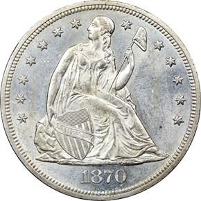 1870 $1 MS obverse