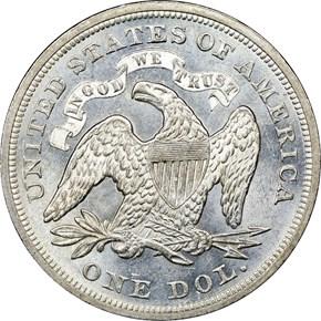 1870 $1 MS reverse