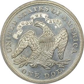 1870 S$1 MS reverse