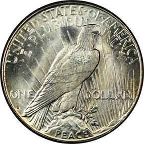 1927 S S$1 MS reverse