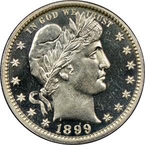 1899 25C PF obverse