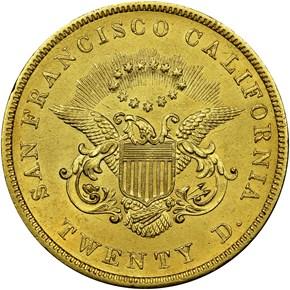 1854 KELLOGG & CO. $20 MS reverse