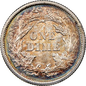 1860 10C MS reverse