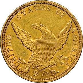 1838 C HM-1 $2.5 MS reverse