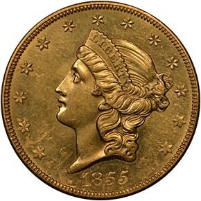 1855 O $20 MS obverse
