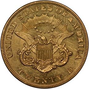 1855 O $20 MS reverse