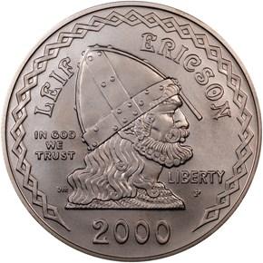 2000 P LEIF ERICSON S$1 MS obverse