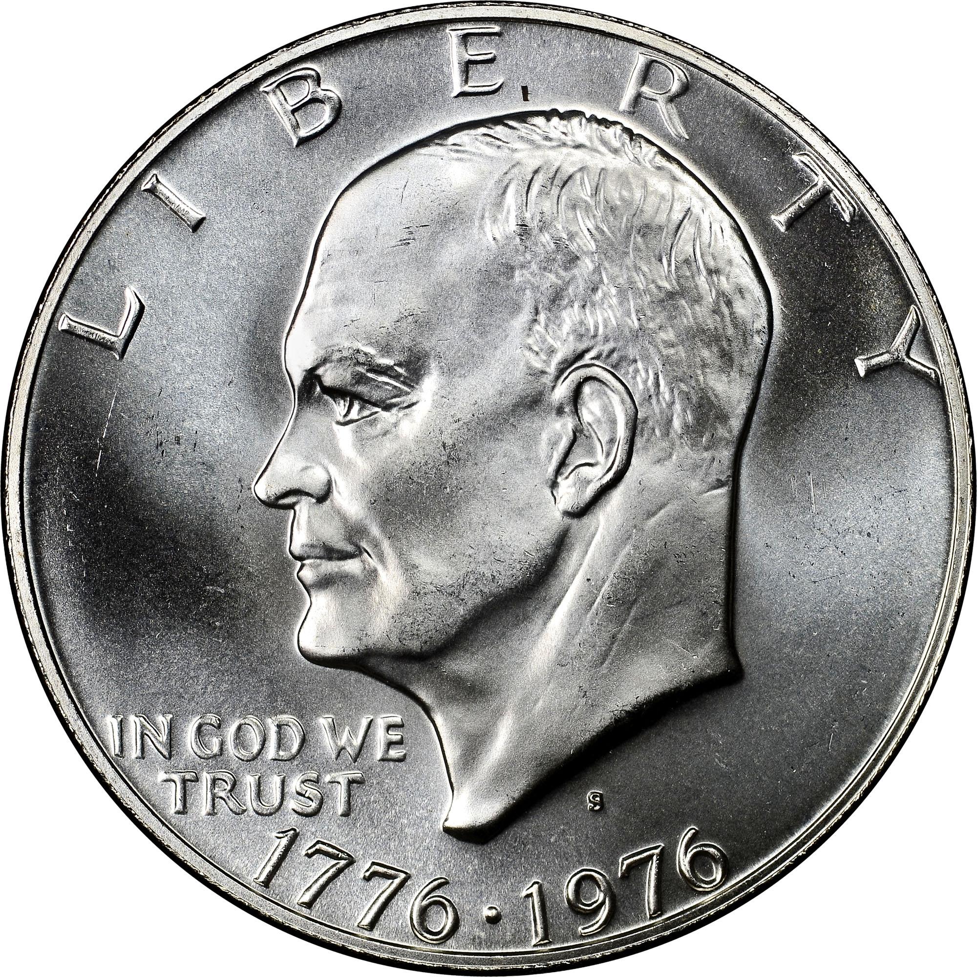 1776 1976 S Silver 1 Ms Eisenhower Dollars Ngc