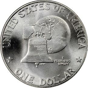 1776-1976 S SILVER $1 MS reverse