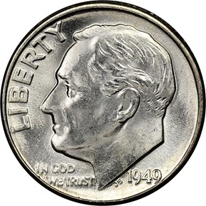 1949 10C MS obverse