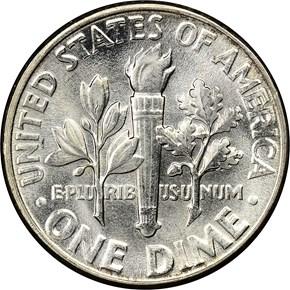 1949 10C MS reverse